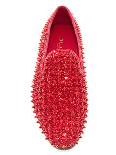 a92e341cb20 JUMP NEWYORK Luxor Red Spike Loafers Red Loafers Mens
