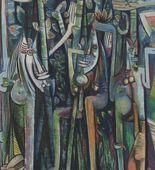 PRODUCTO: Los ejemplos de las obras de Wilfred Lam en el museo de arte moderno. PROSPECTIVA: Las obras de Wilfred Lam son muy bonita y son influyente en el Caribe y los Estados Unidos.