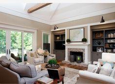Beige, gray and cream living area.  Hampton Hall-Court Atkins Architects-HOUZZ