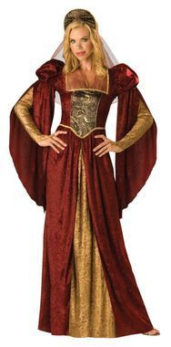 Full length gown and headpiece with drape. Large size fits bust 37-39.5, waist 29-31.5, and hips 39.5-42. ADULT SIZE 12-14.