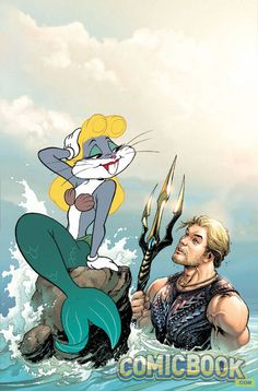 Aquaman #46 Looney Tunes variant cover by Ivan Reis and Brad Anderson
