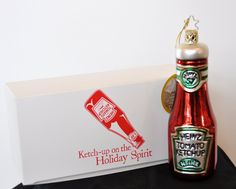 Heinz Ketchup Bottle Ornament  $15.00    HeinzKetchupOrnament_estore