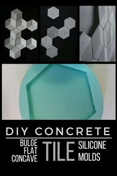 I love these geometric concrete tiles. With the molds I could make an awesome accent wall in the living room. #ad #concrete #mold #silicone #tile #cement #geometric #accentwall #walldecor #homedecor #diy #craft