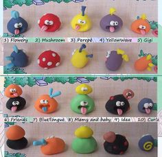 Tonguies - Little, cute, colorful, collectible monsters made of coloured modelling clay (2) - Coloratissimi, teneri, divertenti mostrini by PassionArte, via Flickr