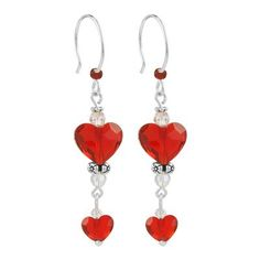 Double Love Crystal Heart Earrings with Swarovski® Crystals. Easy DIY Valentine's Day Kit. Each kit comes with a full set of instructions taking you through every step you need to make each stunning beauty! All materials are included except for the tools.