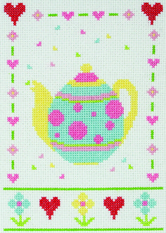 Tea Set Cross Stitch Starter Kit £14.50 | Past Impressions | Anchor