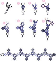 Free pattern for pretty beaded bracelet Esperanza. U need: bicone beads 4mm seed beads 10/0 – 11/0 - See more at:…