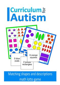 Colours & Shapes Counting Lotto Reading Game, Autism & Special Education