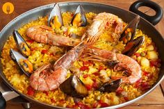Chicken Paella, Seafood Dinner, Rice Dishes, Stew, Risotto, Food And Drink, Cooking Recipes, Pasta, Ethnic Recipes