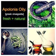 Apolonia Oily is made with fresh seasonings and herbs along with oil + vinegar. All-natural ingredients make this delicious salad dressing / marinade.