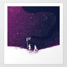 Starfield - Purple Art Print by Budi Satria Kwan - Starting at $19.97