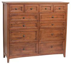 GAC 12–Drawer McKenzie Dresser (1182AFGAC) - Westchester Woods