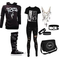 emo outfits for girls - Google Search                                                                                                                                                                                 More