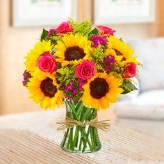 Sunflower & Pink Bouquet