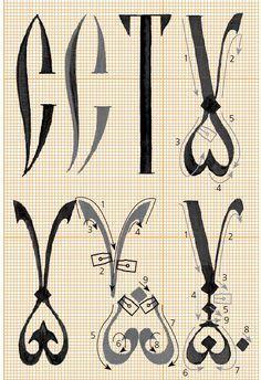 каллиграфия: с т у