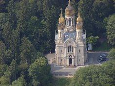 Russian-orthodox-church-wiesbaden - Russisch-Orthodoxe Kirche (Wiesbaden) – WikipediaCommons Foto Wo st 01
