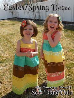 Girls' summer dresses sewing-kids