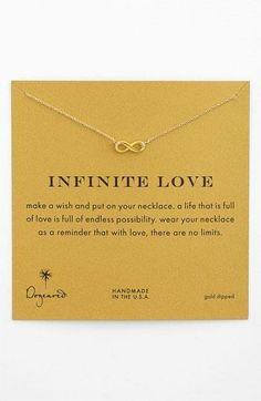 So classy | Infinite love necklace