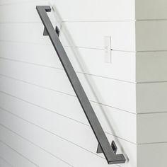8' Modern Handrail 3 brackets Tube Steel hand rail
