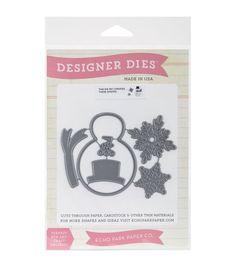 Echo Park Paper Company™ Designer Dies-Winter Snowman