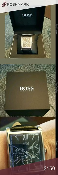 Men's Hugo Boss Watch Brand new. Never worn. Genuine leather strap. Stainless steel. Water resistant Hugo Boss Accessories Watches