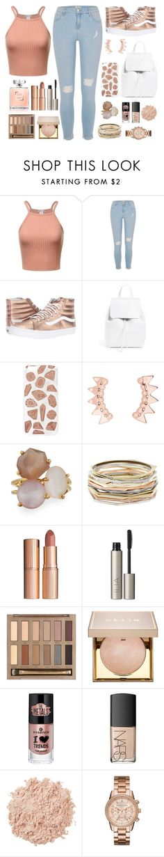 """Notified"" by tigerlily789 ❤ liked on Polyvore featuring River Island, Vans, Mansur Gavriel, Skinnydip, Ippolita, Kendra Scott, Charlotte Tilbury, Ilia, Urban Decay and Stila"