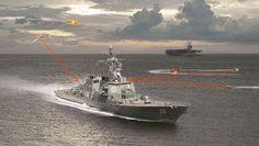 Американский флот шлет пламенные лучи