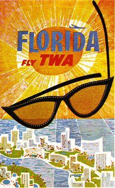 Florida TWA Poster by sandiv999, via Flickr