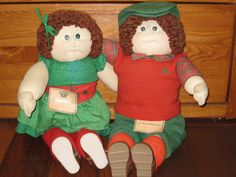 1980s Cabbage Patch Irish Dolls