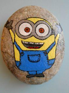 Stone painting Minions