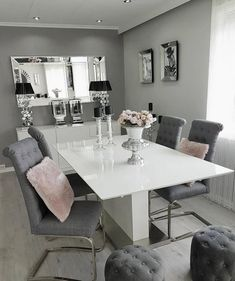 Lack of dinner room project ideas? We can help you get some inspirations! Discover more at spotools.com Dining Room Small, Living Room Decor Apartment, House Interior, Apartment Decor, Room Decor, Dining Room Decor, Elegant Dining Room, Interior Design Living Room, House Interior Decor