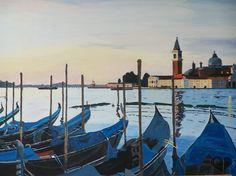 Art Lover Place - Gondoles (Peinture) par Philippe SIMEON