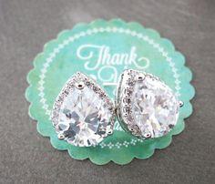 Jarita Wedding Bridesmaid Gift Bridal Earrings by GlitzAndLove