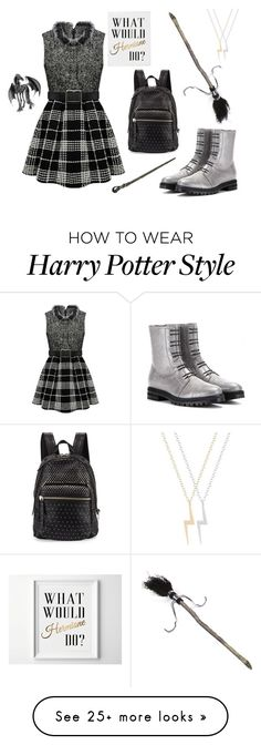 """""""Hogwarts"""" by ohlapislazuli on Polyvore featuring Jimmy Choo and Marc by Marc Jacobs"""