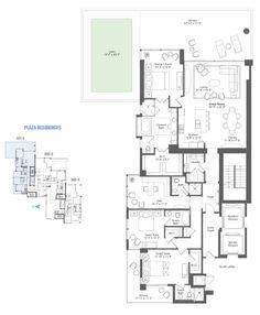 Plaza Residence Floor Plan for Water Club North Palm Beach. #floorplans
