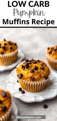 Low Carb Pumpin Muffins are the perfect fall treat! Great for breakfast, brunch, or even an easy snack. If you love pumpkin you need to sink your teeth into one of these moist, soft, tender, and delicious muffins. Keto pumpkin muffins will soon become a staple in your kitchen. Make a batch today! Easy Snacks, Keto Snacks, Sweet Recipes, Keto Recipes, Fall Recipes, Holiday Recipes, Vegetarian Recipes, Sugar Free Desserts, Keto Desserts