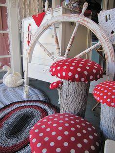 Tall Magical Mushroom Adult Toadstool by MetamorphosisSuite, $20.00