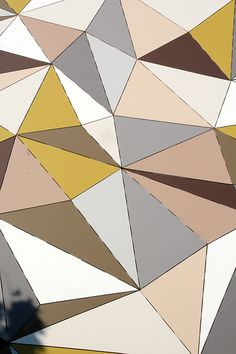 ¨polygonal wall¨art project in Stockholm by artist Jasper Nyren. material: EQUITONE facade panels. equitone.com