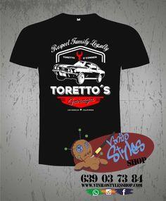 camiseta toretto´s garage fast & furious