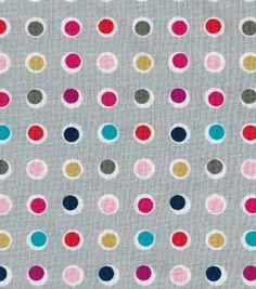 Keepsake Calico Cotton Fabric- Dots On Gray