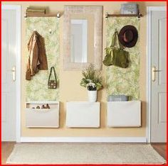 Modern Entryway Designs and Foyer Decorating, Creating Beautiful Small Spaces Entryway Furniture, Furniture Makeover, Diy Interior, Interior Design Living Room, Trones Ikea, Hallway Mirror, Mirror Hooks, Mirrors, Modern Entryway