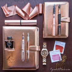 Add some sparkle to your every day with this collection of radiant rose gold products. Inspired by the release of the Filofax Saffiano R...