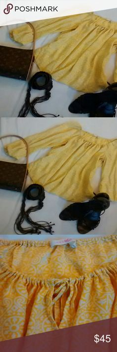 Alice & Trixie Yellow Top Gorgeous Alice & Trixie yellow top.  100 % Silk.  Dry clean only. Alice & Trixie Tops Blouses