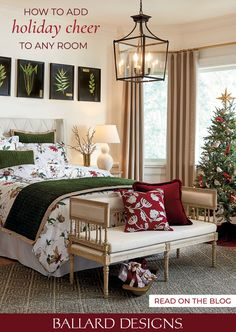 Add holiday cheer to any room or space with this How to Decorate guide by Ballard Designs. From holiday decor to Christmas decorations, Ballard has style you'll love. Festival Decorations, Christmas Decorations, Holiday Decor, Bedroom Bed, Bedroom Ideas, Master Bedroom, Spanish Colonial Decor, Hull House, Christmas Trends