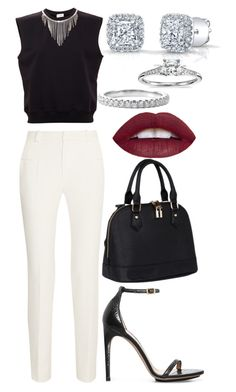 Untitled #3866 by dudas2pinheiro on Polyvore featuring polyvore fashion style Yves Saint Laurent Roland Mouret Calvin Klein Blue Nile clothing