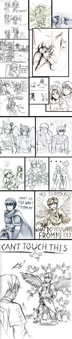 Super Smash Bros Sketch Dump #3 by AmazingArtistYellow.deviantart.com on @DeviantArt