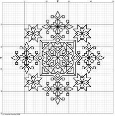 Free blackwork pattern #stitching