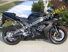 426.55$ Watch now - http://alid3o.worldwells.pw/go.php?t=32515870278 - Hot Sales,For Yamaha YZF R1 2004 2005 2006 YZF1000 04 05 06 YZFR1 Gloss Black Matte Black Motorcycle Fairing (Injection molding)