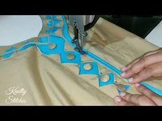 Very Beautiful Kurti Neck Design Cutting and Stitching in Hindi (easy Method) Churidhar Neck Designs, Salwar Neck Designs, Neck Designs For Suits, Blouse Neck Designs, Hand Designs, Sleeve Designs, Collar Kurti Design, Kurta Neck Design, Blouse Neck Patterns