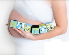 Baby Name Blocks: Personalized Nursery Decor - Boy  - Newborn - Photo Shoot - Baby Shower- Photography Prop - Maternity Photo - Pictures